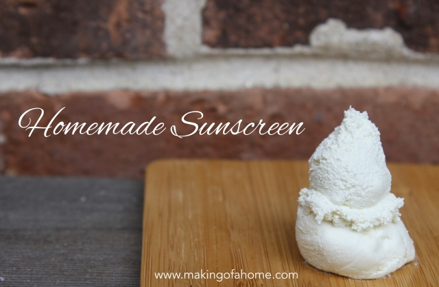 Homemade Sunscreen