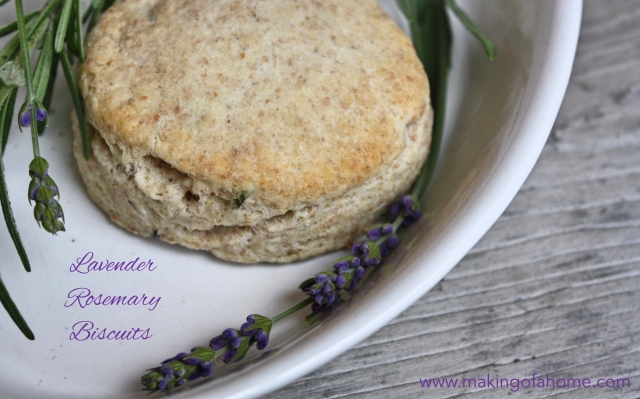 Lavender Rosemary Biscuits